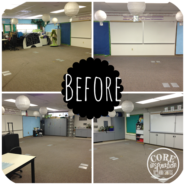 Empty classroom. Before classroom design is complete.