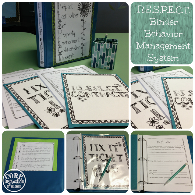 Respect Binder cover, contract, fix it ticket log.