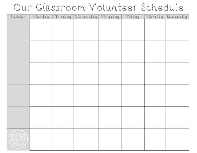 A peek at my weekly volunteer schedule