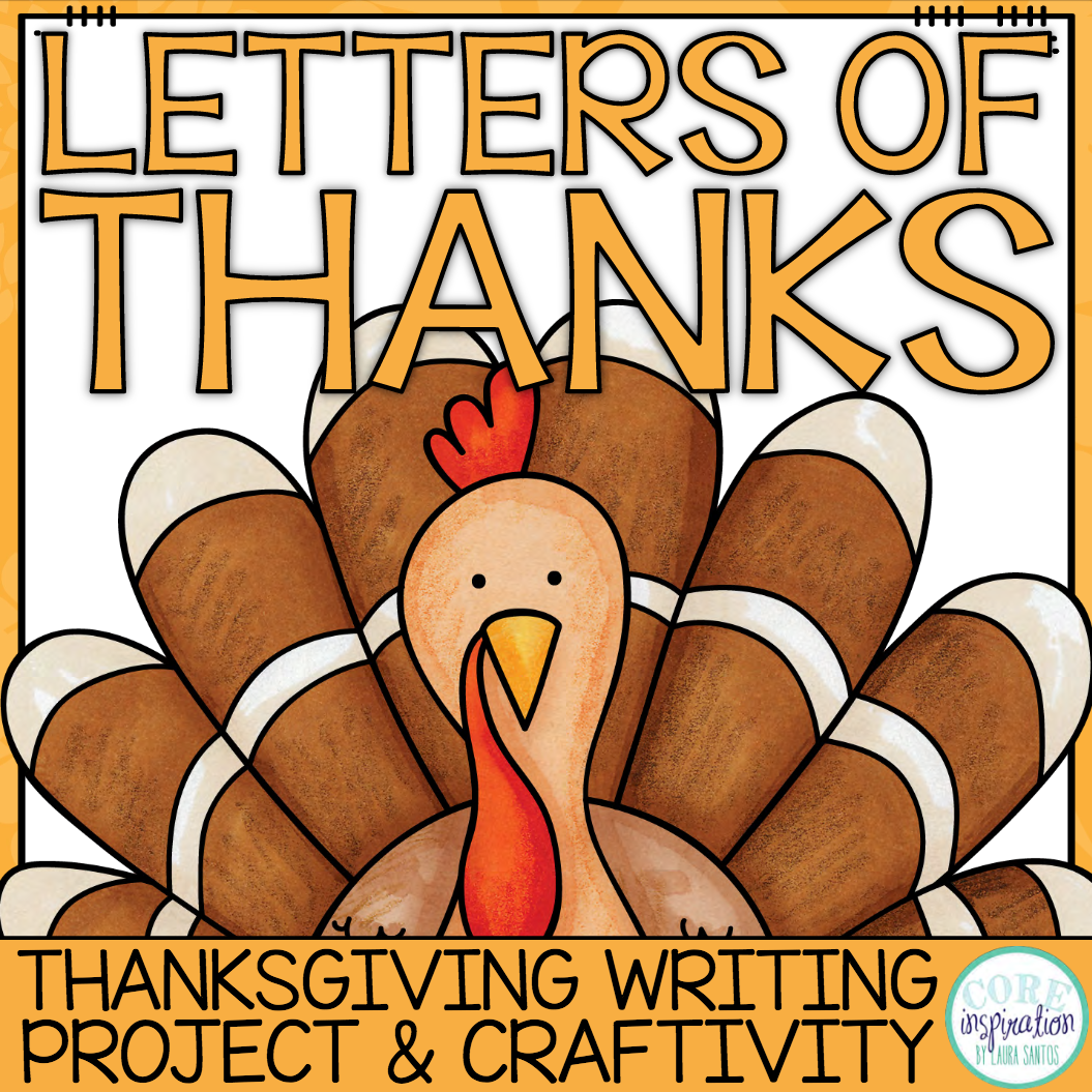 Letter of Thanks Thanksgiving Writing Project and Craftivity Cover