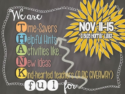 BlogHoppin' We Are Thankful Linky Party Header