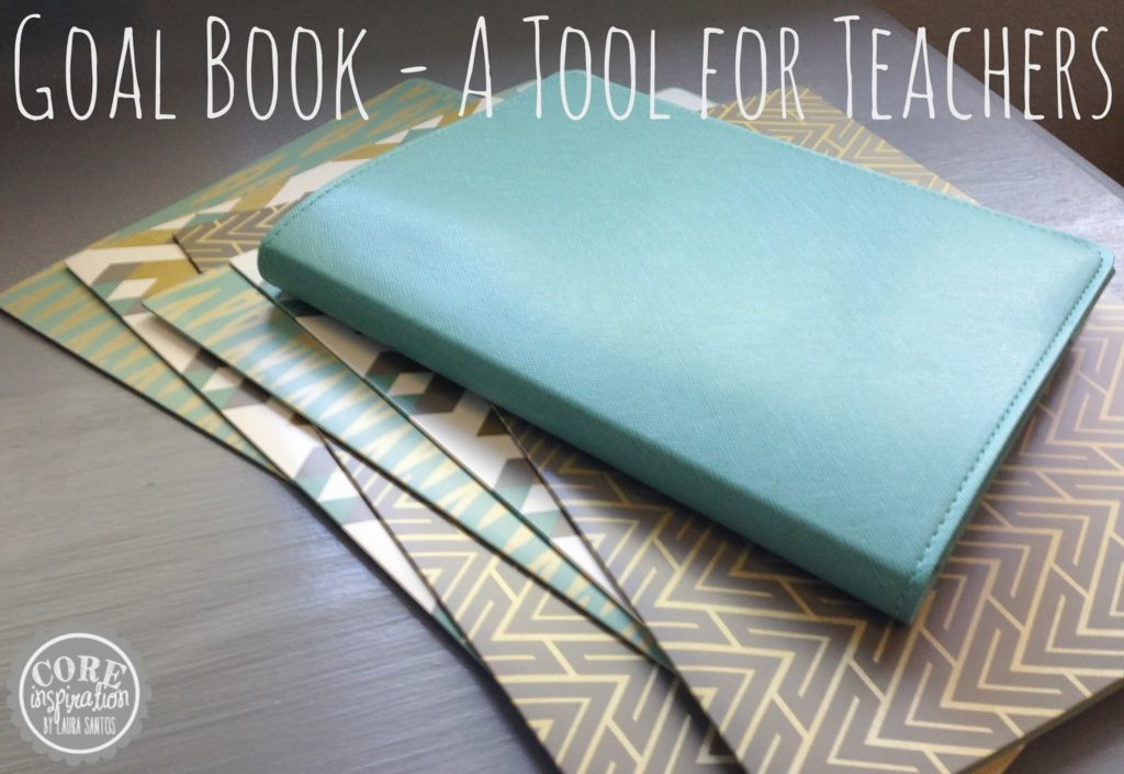 Goal book and fancy file folders.