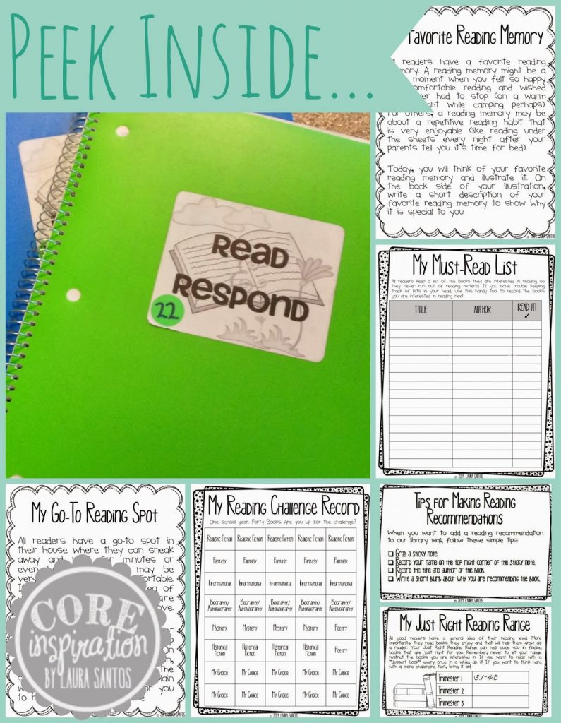 Peek Inside Our Read and Respond Journals