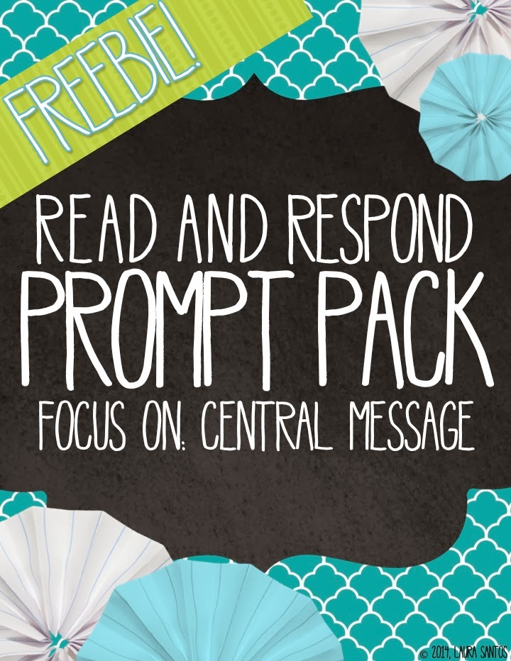 Read and Respond Central Message Freebie
