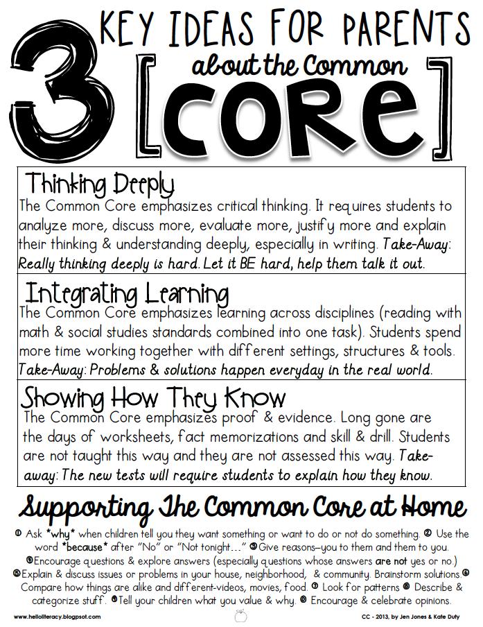 3 Key Ideas for Parents About Common Core