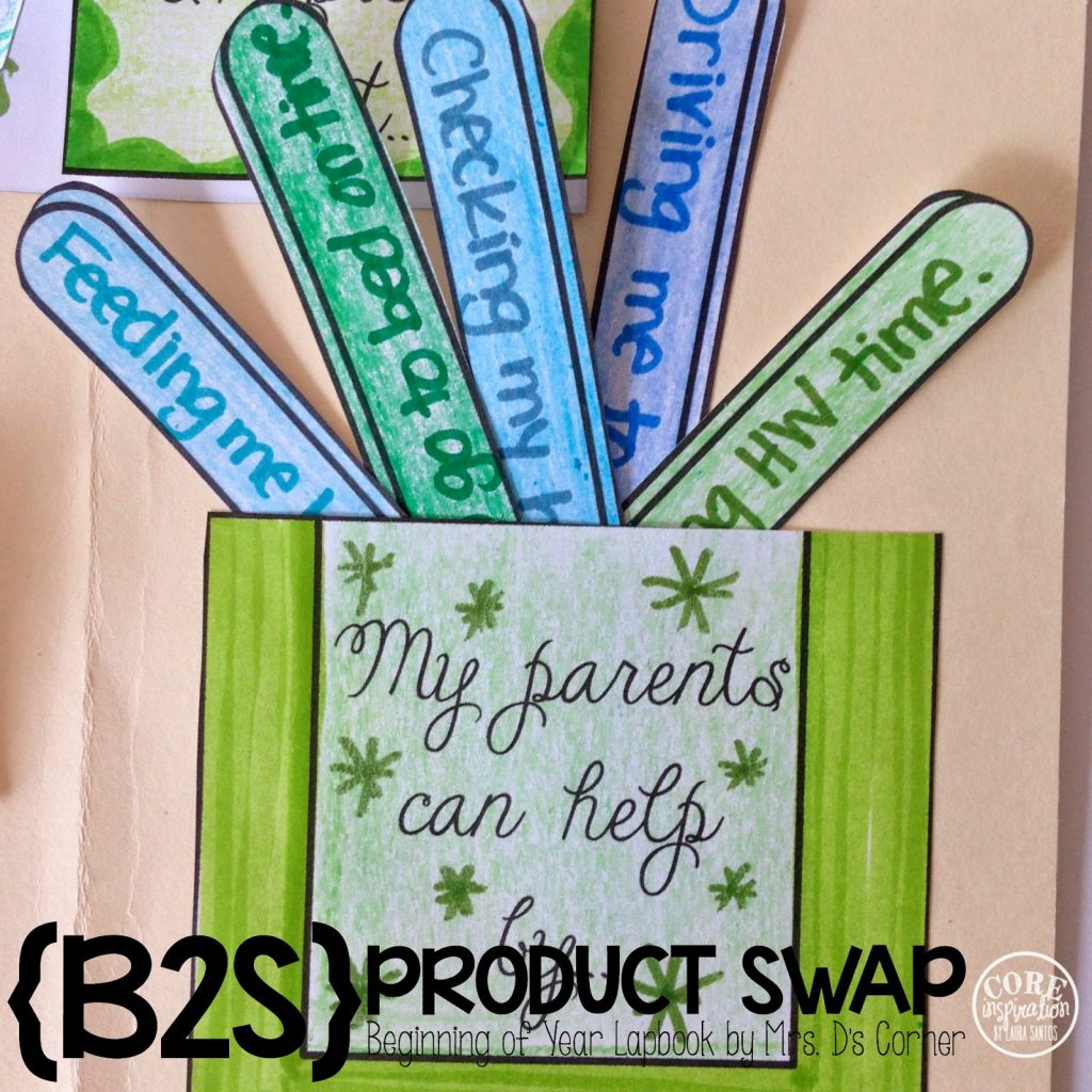 Back To School Lapbook how my parents can help me