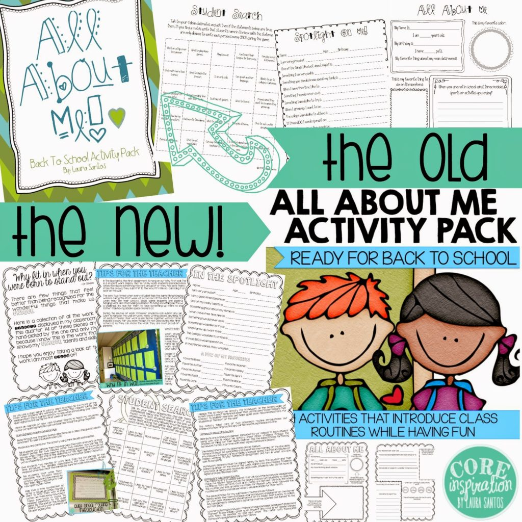 Preview of back to school resource makeover.