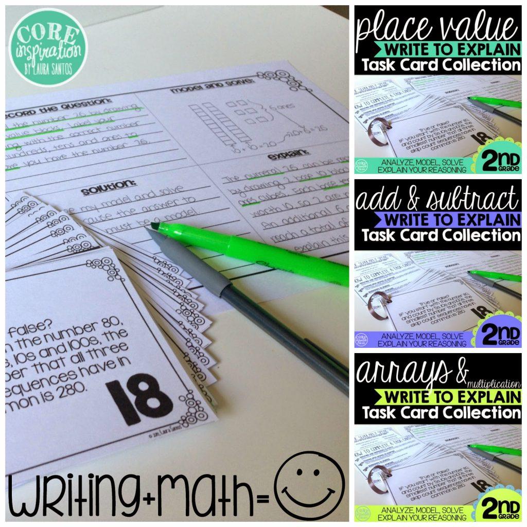 Sample Write to Explain Task Cards
