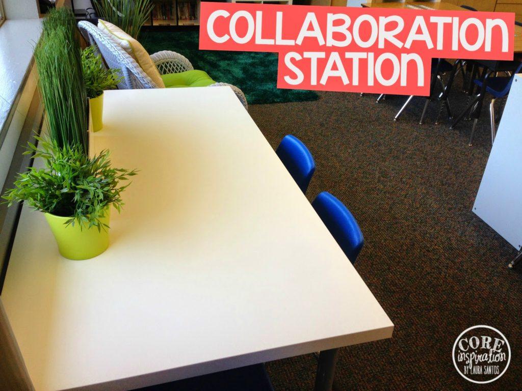 Core Inspiration classroom collaboration station.