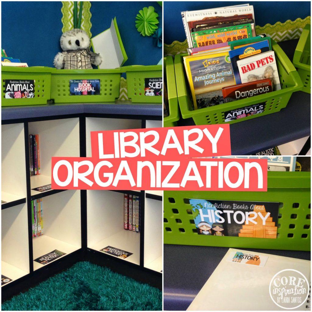 Core Inspiration classroom library organization tips