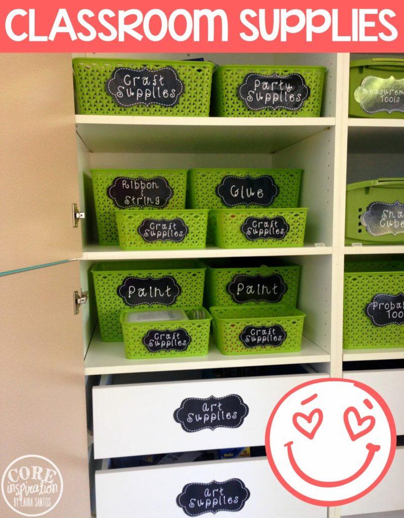 Core Inspiration classroom supply cabinet.
