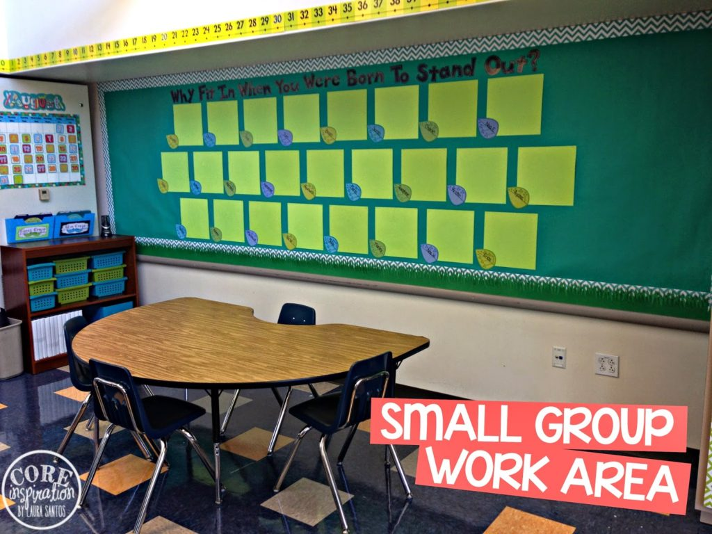 Core Inspiration small group instruction area.