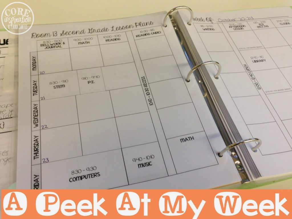 A peek at my lesson plan book.