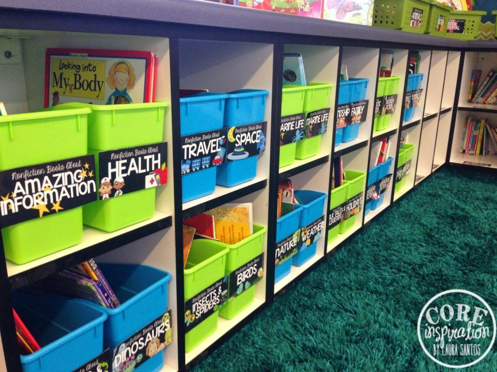 Core Inspiration book bin labels.