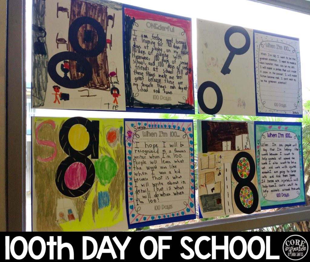 100th Day of School Art and Writing Project