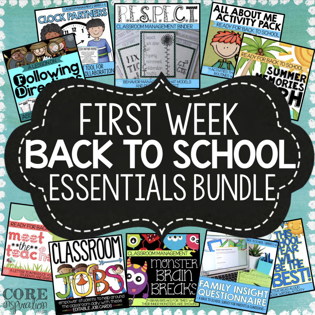 First Week Back to School Essentials Bundle resource cover