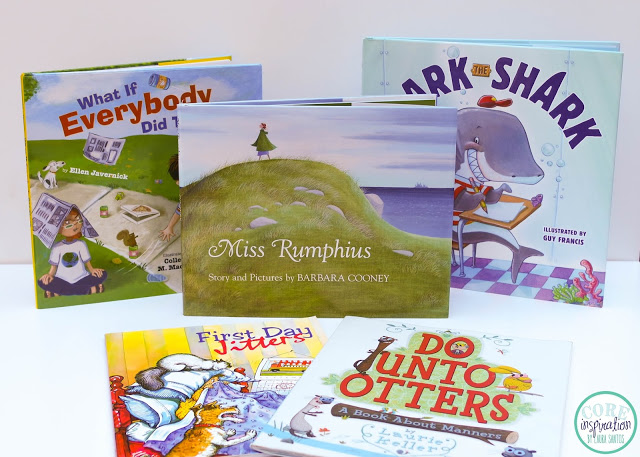 Collection of books to read aloud on your first day of school.