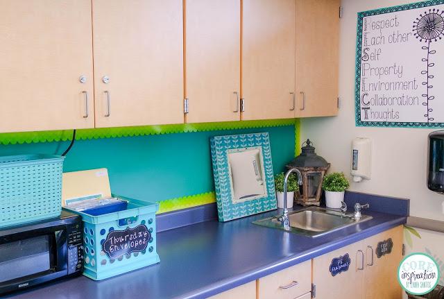 Core Inspiration classroom sink area.