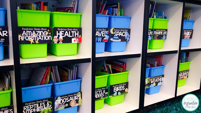 Core Inspiration library bin labeling kit.