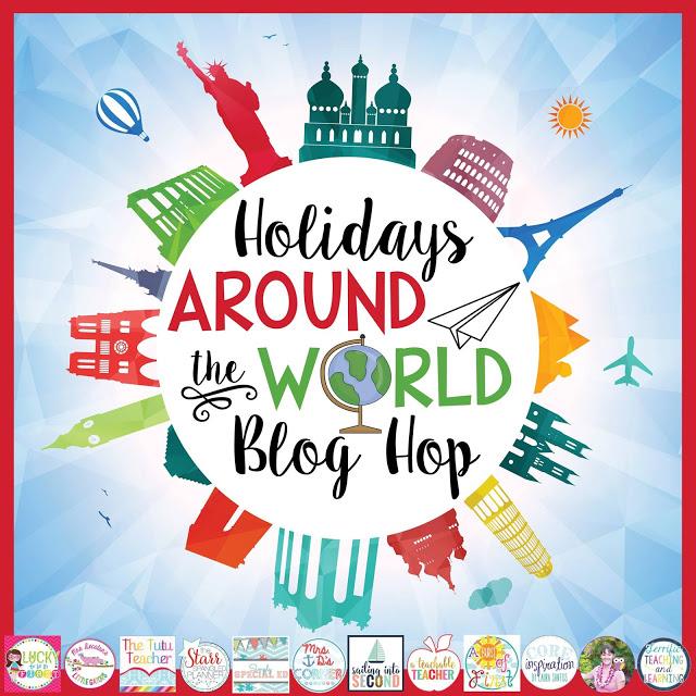 Holidays Around The World Classroom Resource Blog Hop Header