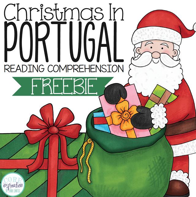 Christmas in Portugal Teachers Pay Teachers reading comprehension freebie.
