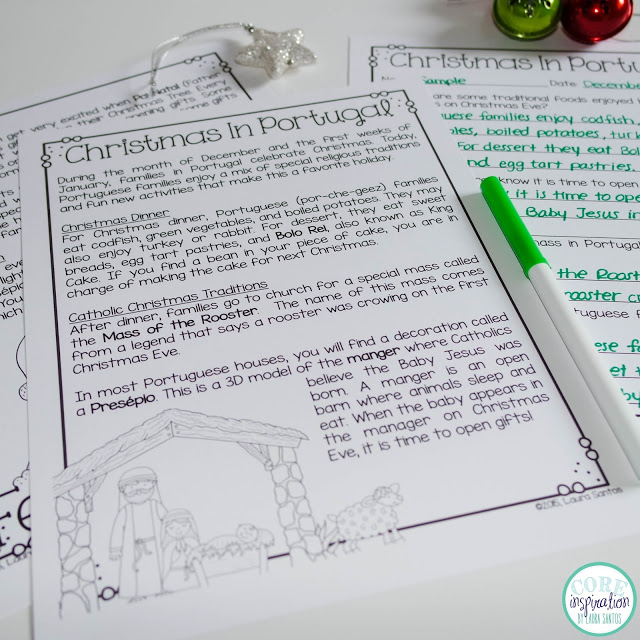 Nonfiction article about Christmas in Portugal