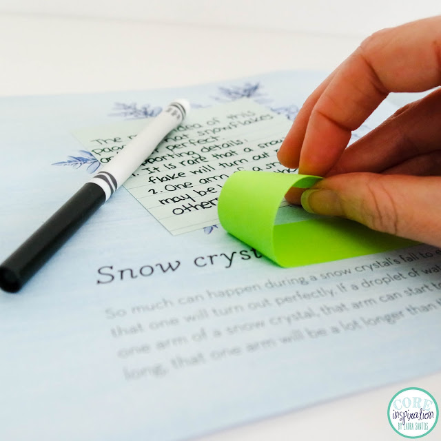 Post It Adhesive Roll being pulled of page of book.