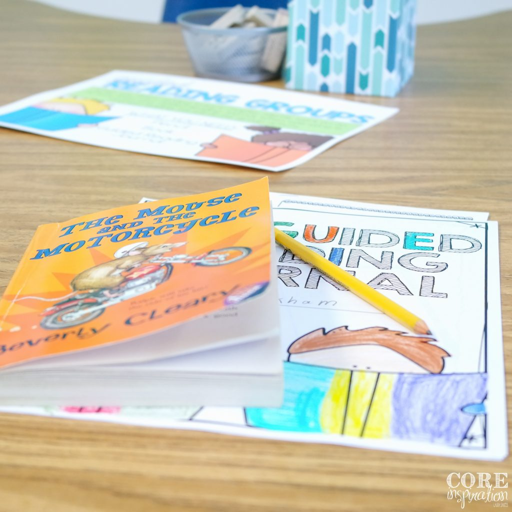 Our reading aide uses these guided reading supplies stored at the back table to maximize time on task.