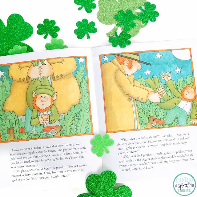A peek at the Irish folktale Jamie O'Rourke and the Big Potato