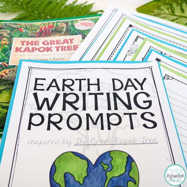Core Inspiration Earth Day Writing Prompts inspired by The Great Kapok Tree