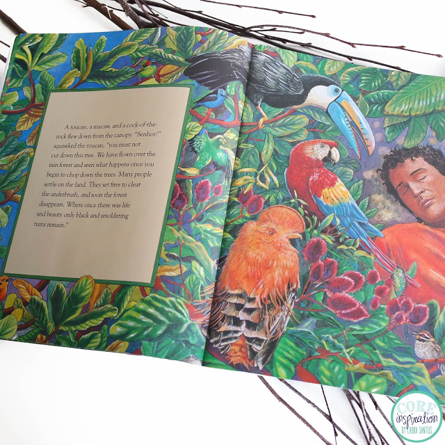 Core Inspiration a peek inside Lynne Cherry's The Great Kapok Tree