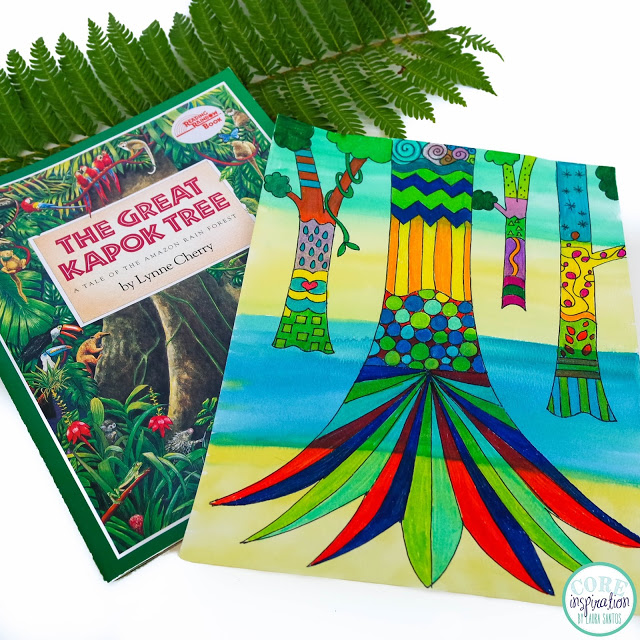 Core Inspiration The Great Kapok Tree art project and read aloud.