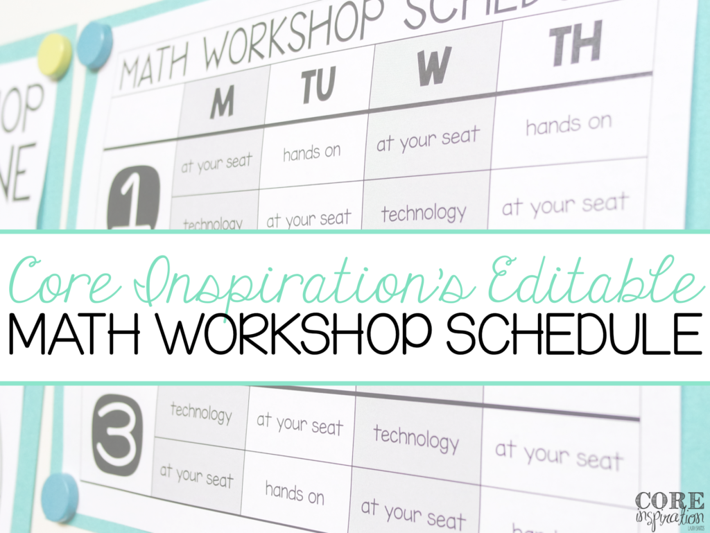 Core Inspiration Editable Math Workshop Schedule Image