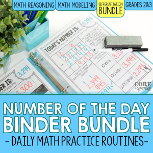 Core Inspiration Number of the Day Binder Bundle