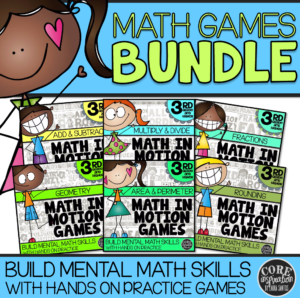 Core Inspiration Third Grade Math Games Bundle