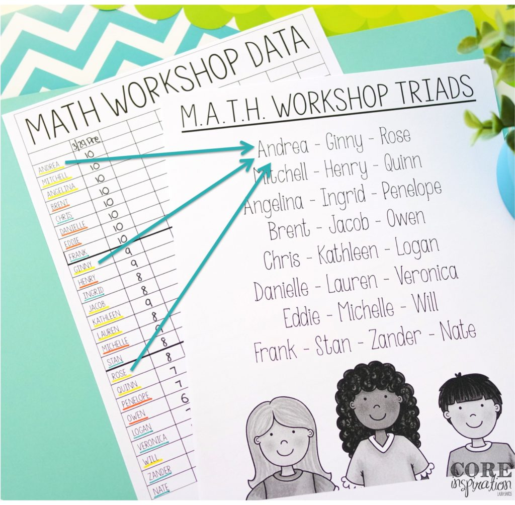 Tips For Creating Math Triads for Math Workshop - math small group work boosts students independence.