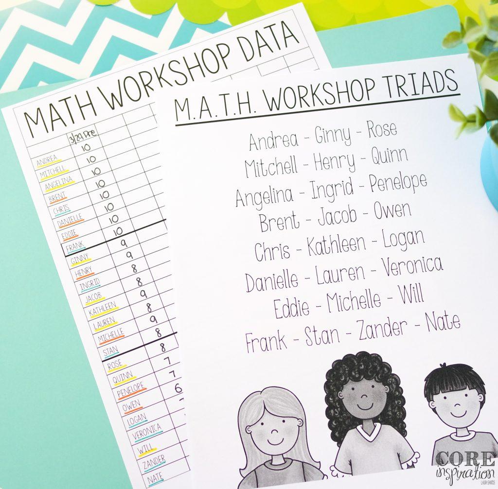 Core Inspiration Math Triad Organization