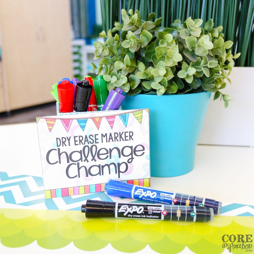 This adorable label can help you celebrate the dry erase challenge champ.
