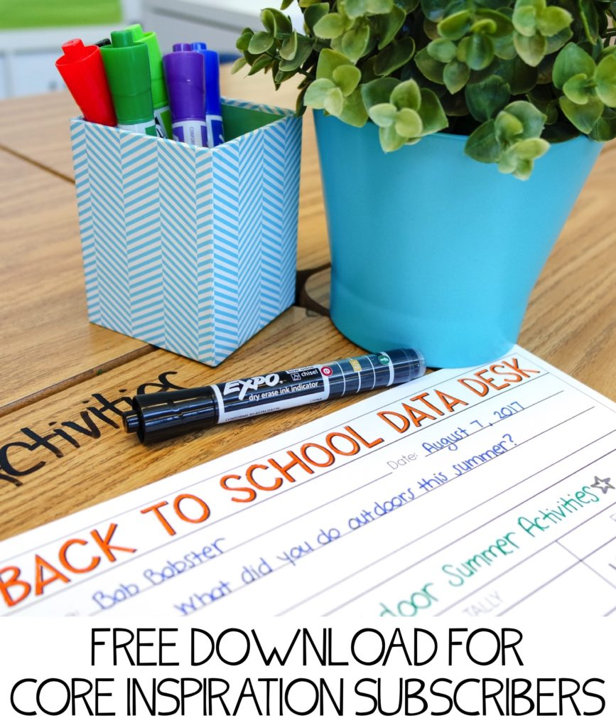Interactive Back to School Data & Graphing Landing Page Image