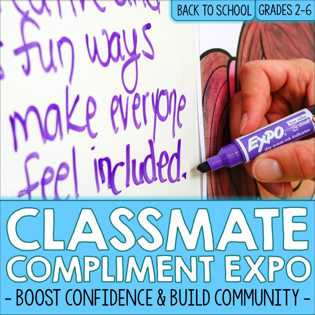 Core Inspiration Classmate Compliment Expo Back To School Activity Resource Cover