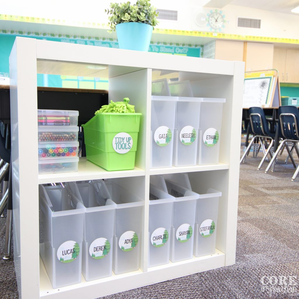 Core Inspiration station for student supplies.