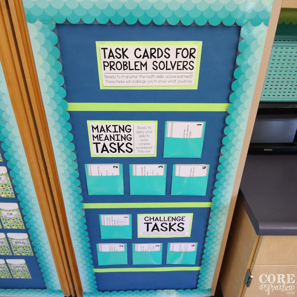 Core Inspiration Third Grade Math Workshop Task Card Board