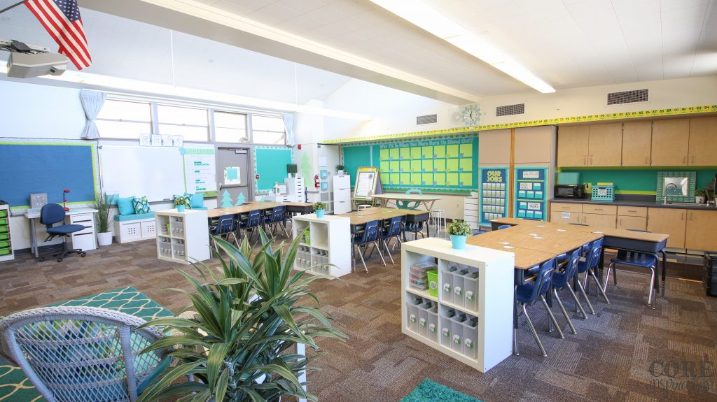 Core inspiration third grade classroom reveal - back of the room