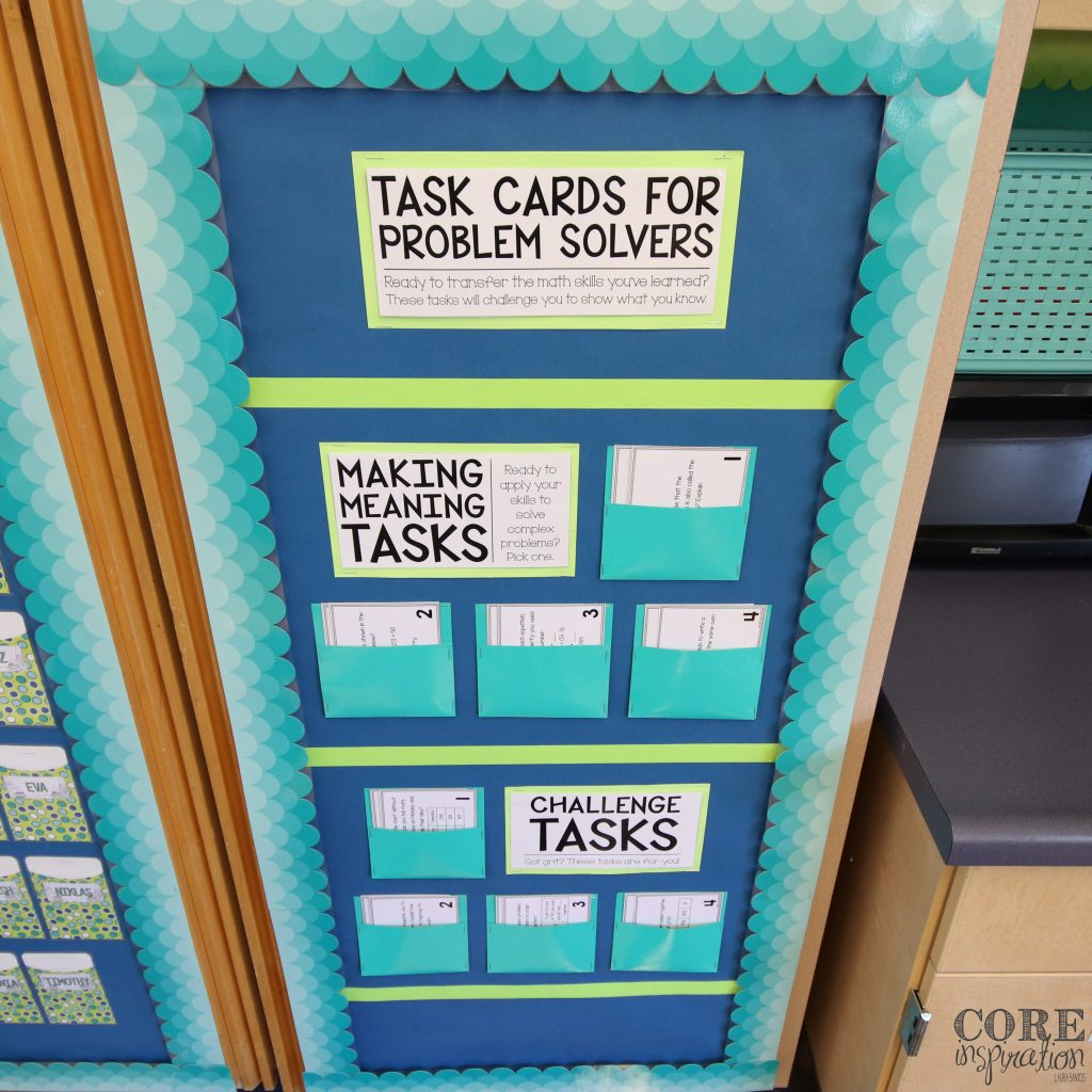 Core Inspiration task card display board