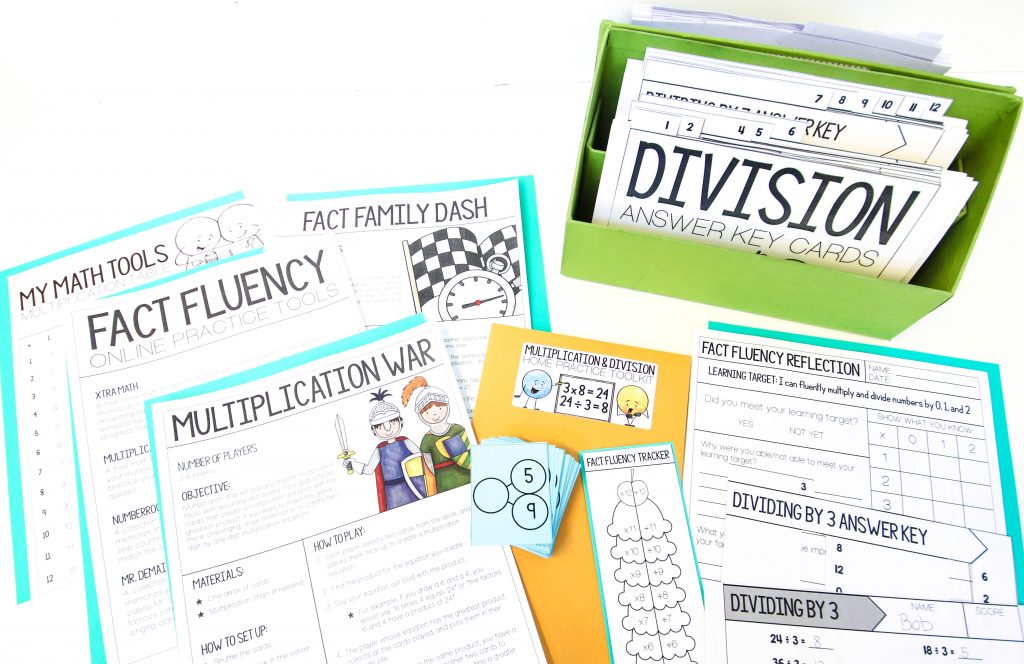 Core Inspiration Multiplication and Division Fact Fluency Practice, Assessment, and Reflection Tools
