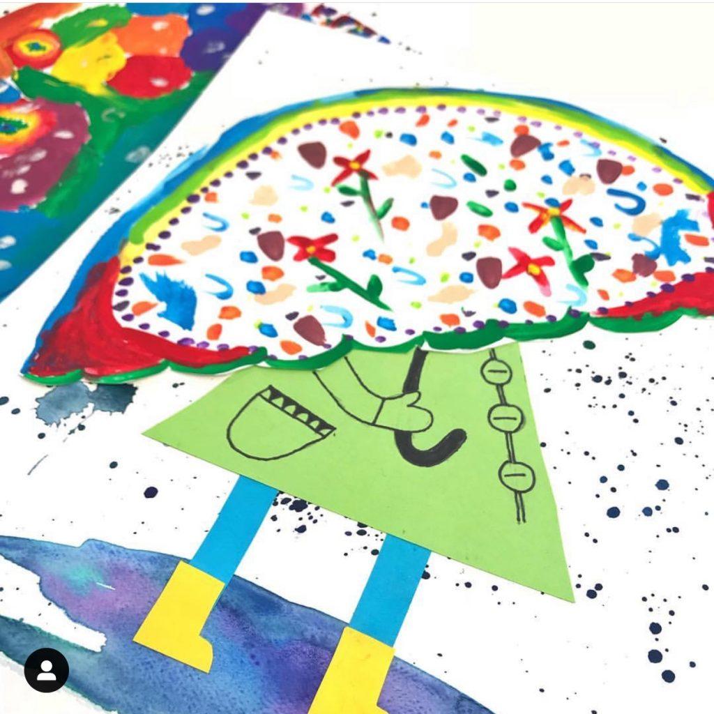 Core Inspiration Spring Umbrella Art Project