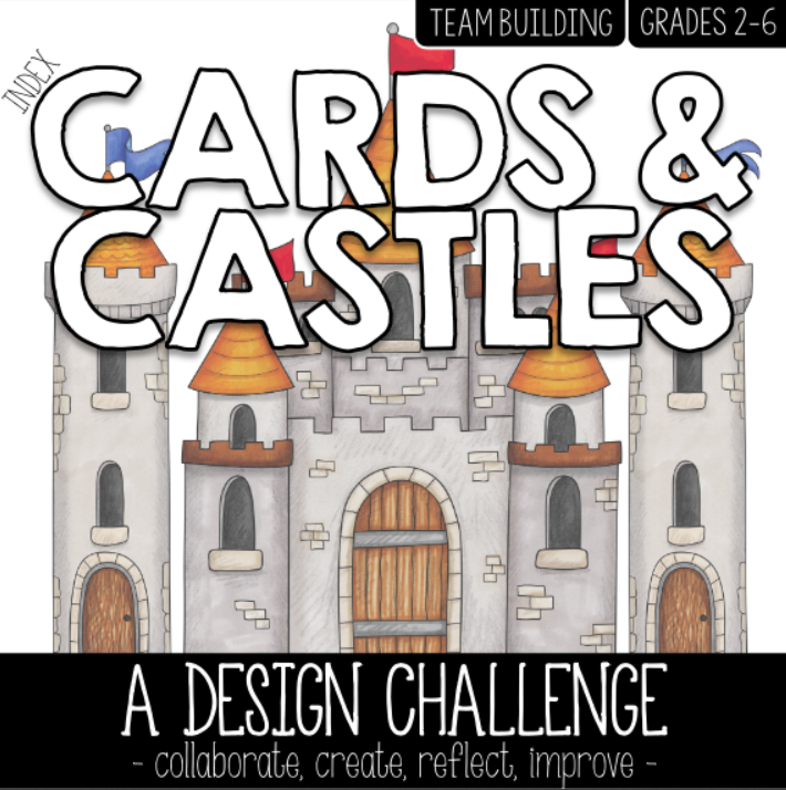 Cover of Core Inspiration's Index Cards and Castles resource.