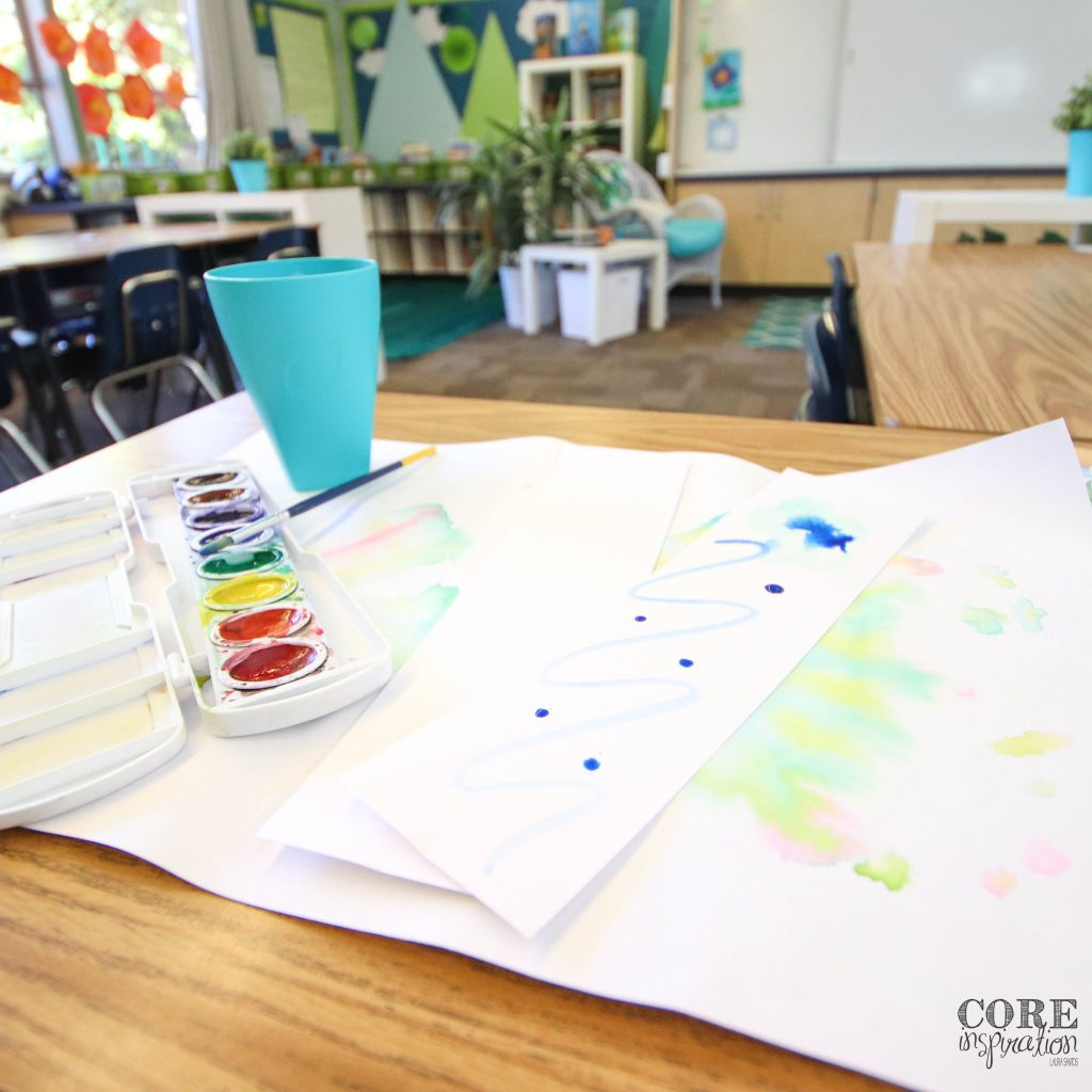 When my students walk through the door on the morning of the reading summer, they get to enjoy a little art as they paint their own water color bookmarks.