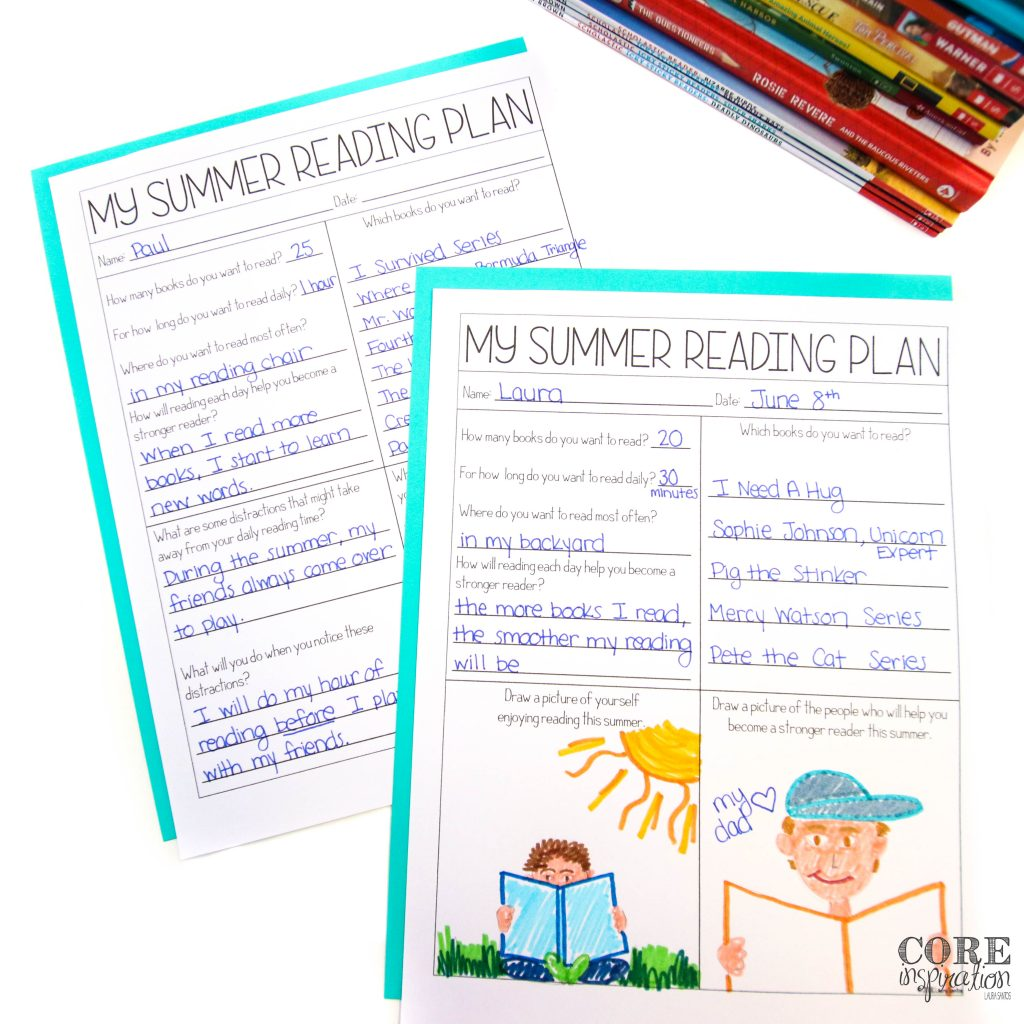 """These two versions of the """"My Summer Reading Plan"""" sheet makes goal setting for summer reading easy to differentiate."""