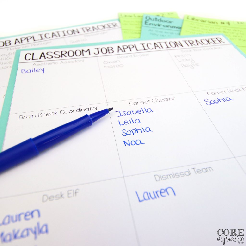 This classroom job application tracker is such a time saver for me. I love that I can just read the applications, make note of who has applied, and send their applications home for families to read at the end of each week.